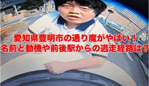 愛知県豊明市の通り魔がやばい!名前と動機や前後駅からの逃走経路は?