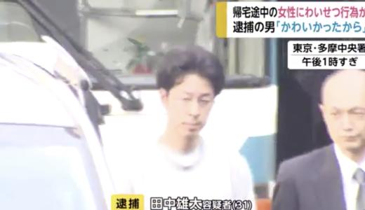 田中雄太の顔画像が特定!facebookや会社は?帰宅途中の女性にわいせつ!