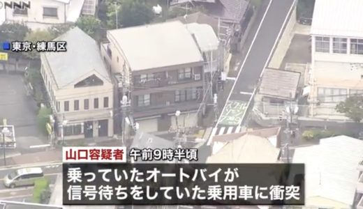 【特定】山口達也容疑が逮捕された練馬区桜台2丁目の交差点の場所はどこ?