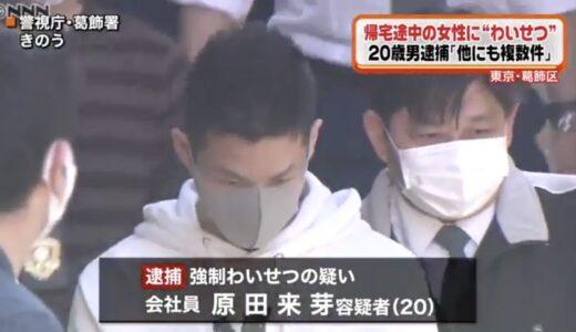 原田来芽の顔画像|会社はどこ?東京・葛飾区の路上でわいせつ行為をして逮捕